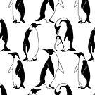 Penguins family by Anna Alekseeva