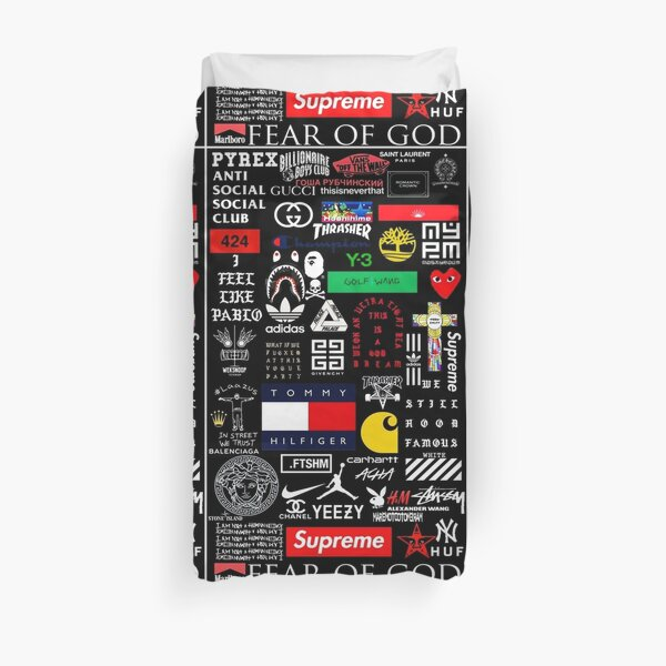 All Brand Collage Duvet Cover