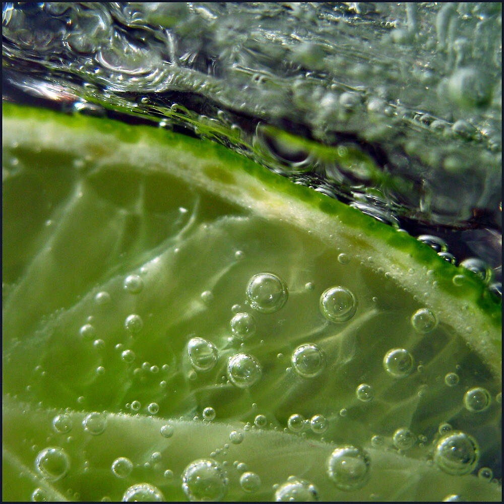 Ice with lime bubbles by Dove4