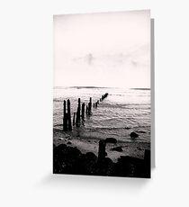 Sea Defence - Sandsend Greeting Card