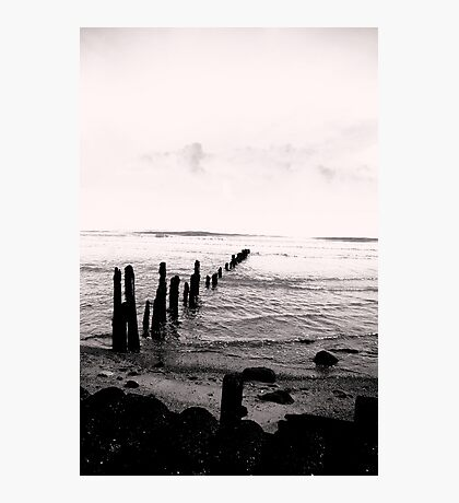 Sea Defence - Sandsend Photographic Print