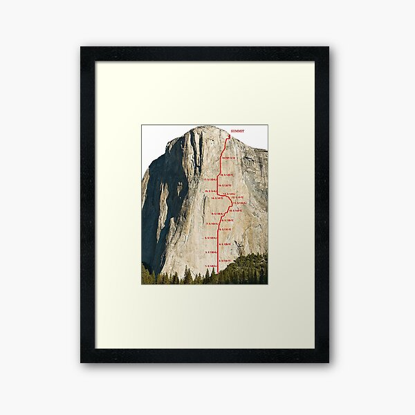 The Dawn Wall Yosemite  Framed Art Print