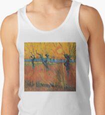 Vintage Vincent Van Gogh Willows at Sunset 1888 Tank Top