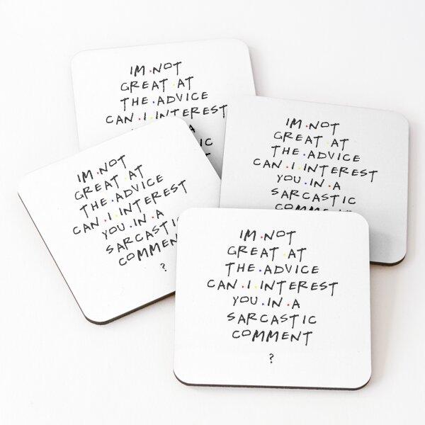 Chandler Bing qoutes Coasters (Set of 4)