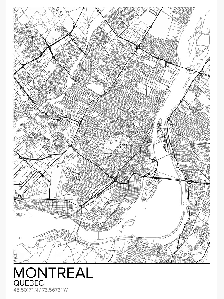 photograph relating to Printable Map of Montreal known as Montreal map poster print wall artwork, Quebec present printable, Property and Nursery, Innovative map decor for place of work, Map Artwork, Map Items Photographic Print