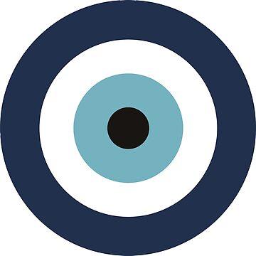 Evil blue greek eye by degreek