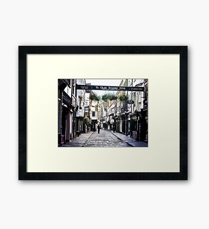 Stonegate - York Framed Print