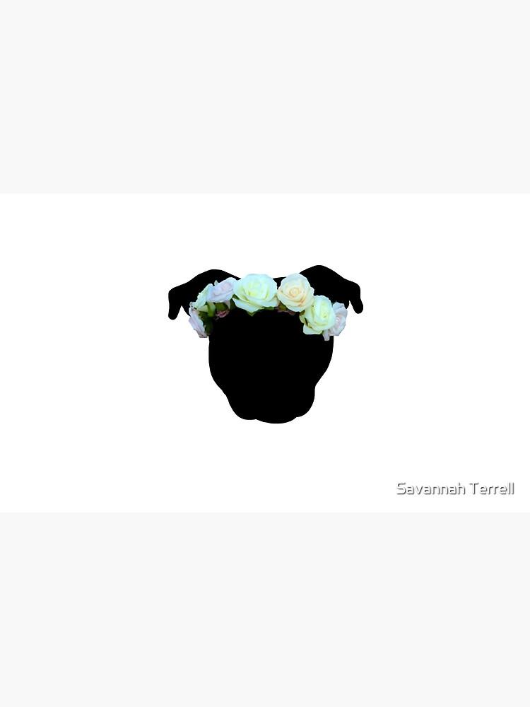 Flower Crown Pittie by ShelterStaffie
