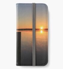 Winter Sunrise on the river. iPhone Wallet/Case/Skin