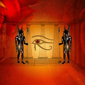 The all seeing eye with anubis by nicky2342