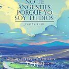 Spanisches Jahr 2019 (Pastel Sky) von JW ARTS & CRAFTS