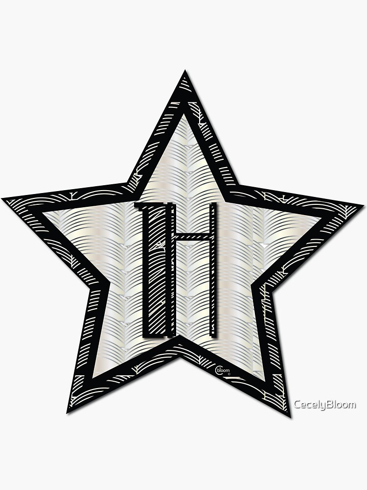 STAR of the SHOW art deco style letter H by CecelyBloom