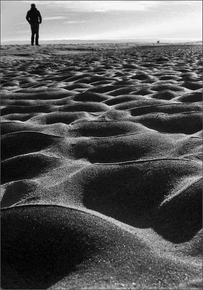 Walking on shifting sand by Dove4