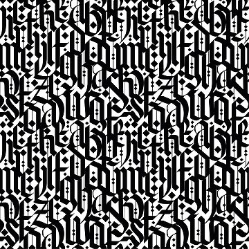 typography pattern 4  - seamless design - abstract calligraphy      by ohaniki