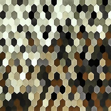 Honeycomb Pattern In Neutral Earth Tones by taiche