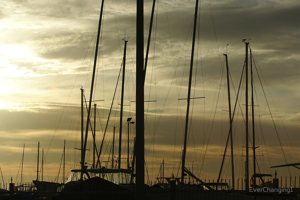 Masts at Sunset ~ Western Australia by EverChanging1
