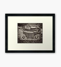 Retro Qaz Framed Print