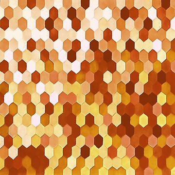 Honeycomb Pattern In Warm Mead and Honey Colors by taiche