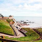 Jacobs Ladder Beach in Sidmouth by Leon Woods
