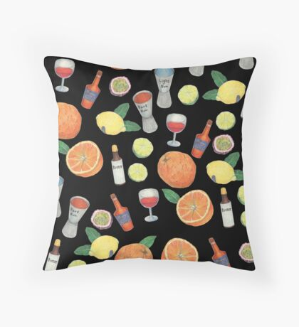 Partytime_black Throw Pillow