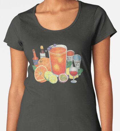 Partytime_black Premium Scoop T-Shirt