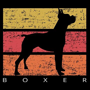 Boxer Retro Vintage Design Distressed by SayAhh