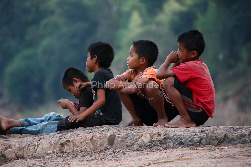 Lao kids by Philip Alexander