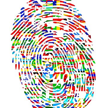WORLD FLAG FINGERPRINT by Calgacus