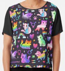 Pride Cats Chiffon Top