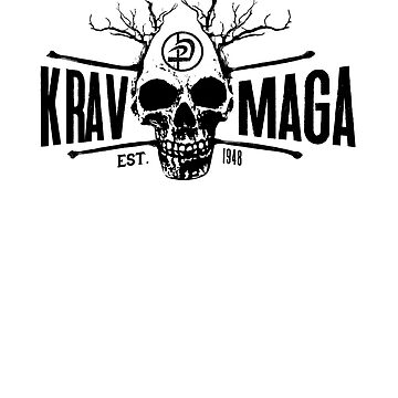 Krav Maga Urban Skull Design - Great for Men and Women by loumed