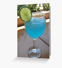 Blue Margarita Greeting Card