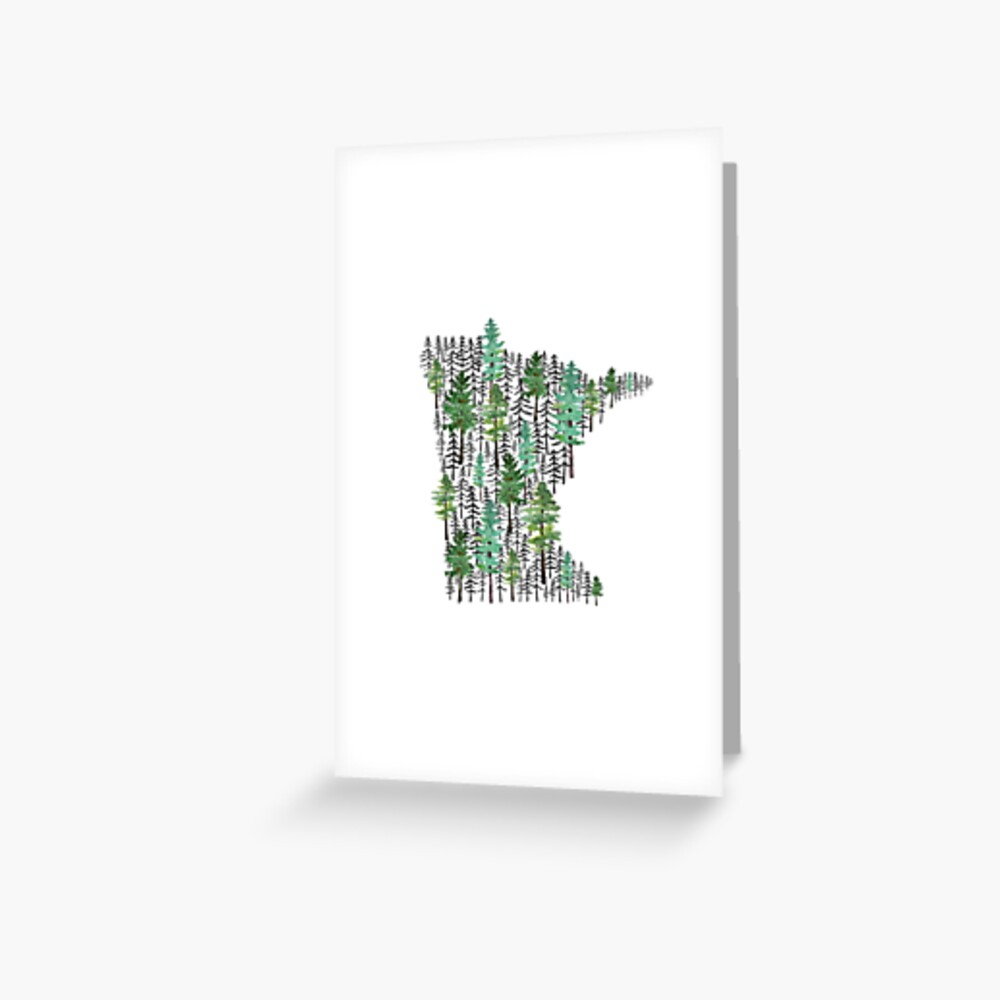 Minnesota Forest Greeting Card