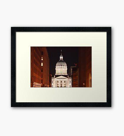 The Night Capital Framed Print