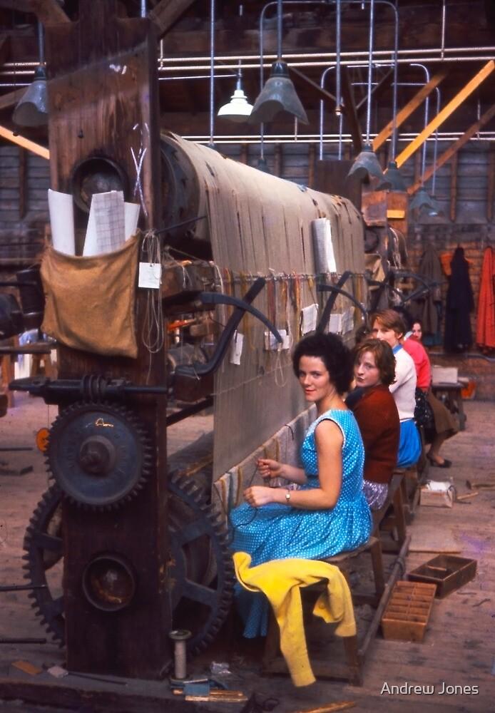 Carpet factory, Killybegs, County Donegal, Ireland circa 1959 by Andrew Jones