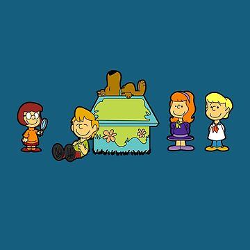 Shaggy Brown and The Scooby Crew  by robotghost