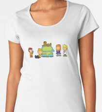 Shaggy Brown and The Scooby Crew  Women's Premium T-Shirt