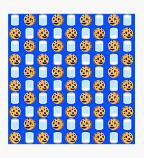 Milk and Cookies Pattern Photographic Print