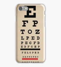 Vintage Inspired Eye Chart - Snelling Eye Chart - Visual Acuity - Distressed Canvas Background Print iPhone Case/Skin