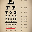 Vintage Inspired Eye Chart - Snelling Eye Chart - Visual Acuity - Distressed Canvas Background Print by traciv