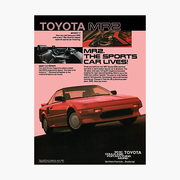 TOYOTA MR2 AW11 Photographic Print