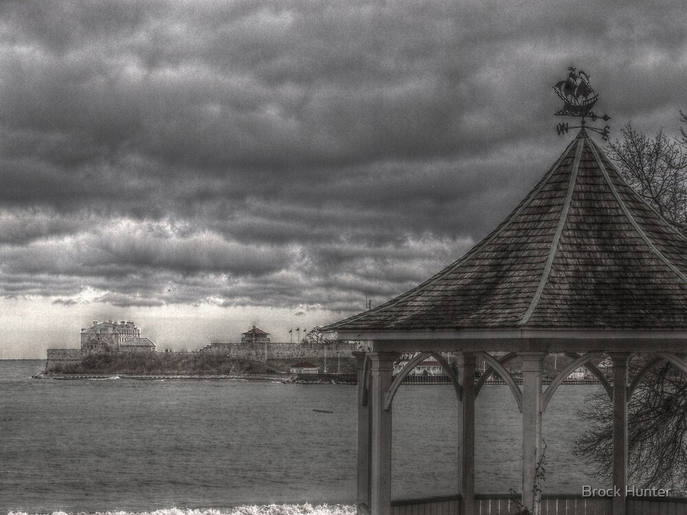 mouth of the niagara river by Brock Hunter