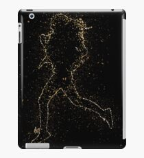 Silhouette fit fitness golden ornament Gold iPad Case/Skin