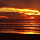 Enjoying The  Sunset ~ Imperial Beach, California ~ USA by Marie Sharp
