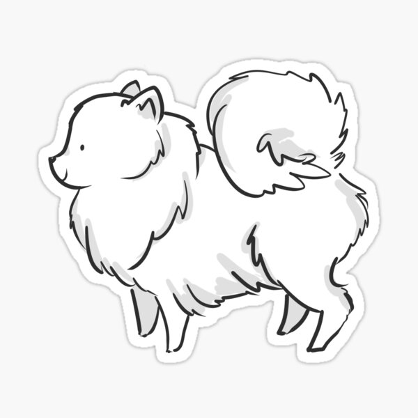 White Floofball Sticker