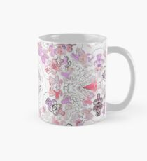 Pink Floral Ties and Circles Design Offering by Green Bee Mee Mug
