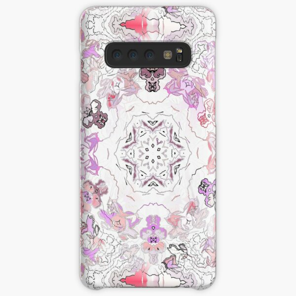 Pink Floral Ties and Circles Design Offering by Green Bee Mee Samsung Galaxy Snap Case