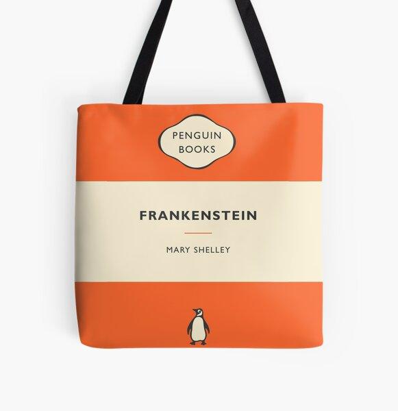 Libros de pingüinos Frankenstein Bolsa estampada de tela