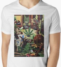Cannabis Art Collectibles Men's V-Neck T-Shirt