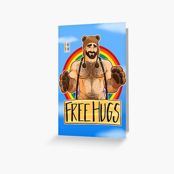 ADAM LIKES HUGS - GAY PRIDE Greeting Card