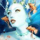 Mermaid fantasy portrait by Ellerslie